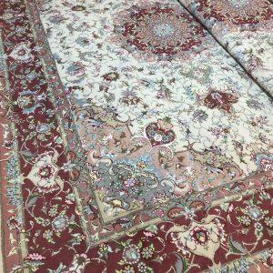 فرش دستبافت جفت9 متری علیا گل ابریشم