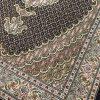 فرش دستبافت قالیچه تبریز طرح ماهی مرینوس سرمه ای رج۴۰