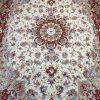 فرش دستبافت جفت شش متری طرح علیا گل ابریشم رج ۳۰